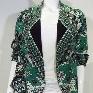 Green Patterned Chico's Women's Blazer/Jacket